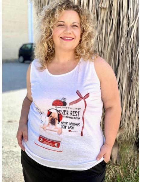 Camiseta tirantas Curvy...