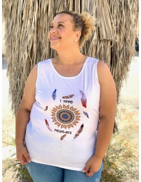 Camiseta tirantas Tribal Curvy
