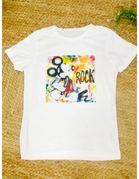 Camiseta Disney Mickey Rock