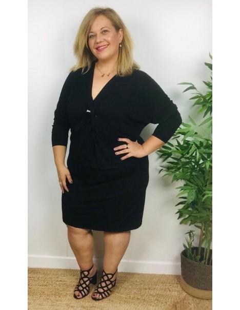 Vestido Lana Fina Negro